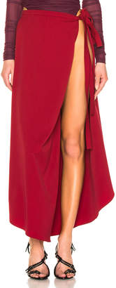 Y/Project Side Slit Skirt in Red | FWRD