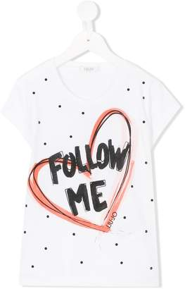 Liu Jo Kids heart-print T-shirt