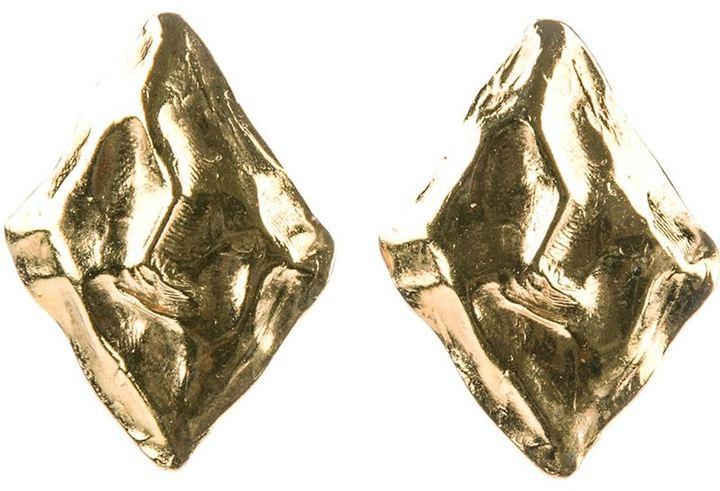 Saint Laurent Vintage art diamond earrings