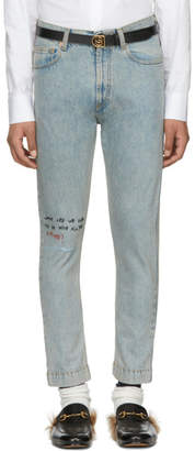 Gucci Blue Future 60s Fit Jeans
