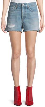 Rag & Bone Justine High-Rise Denim Shorts
