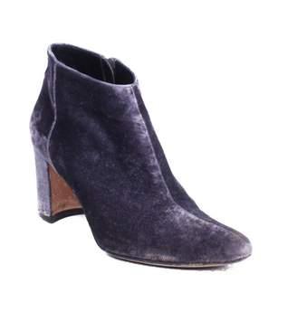 Manolo Blahnik Purple Velvet Boots