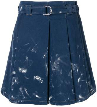 Acne Studios pleated denim skirt