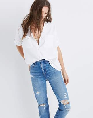 White Cotton Courier Shirt $65 thestylecure.com