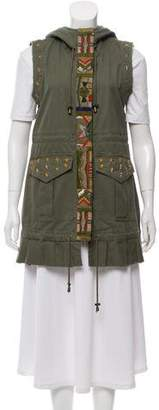Alessandra Chamonix Beaded Hooded Vest w/ Tags