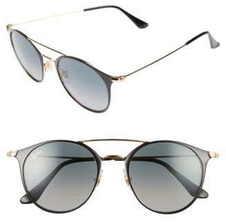 Women's Ray-Ban 49Mm Gradient Round Sunglasses - Black $175 thestylecure.com
