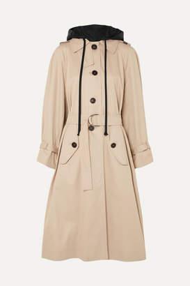 Miu Miu - Oversized Cotton-poplin Trench Coat - Beige