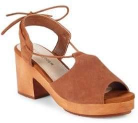 Kelsi Dagger Brooklyn Self-Tie Suede Block Heel Sandals