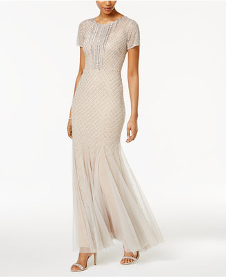 Adrianna Papell Beaded Mesh Gown $349 thestylecure.com