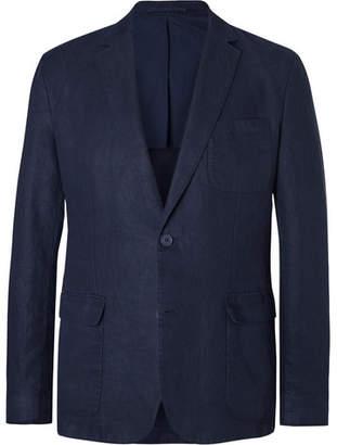 Orlebar Brown Navy Edgar Slim-Fit Unstructured Linen Blazer