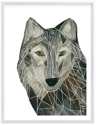 Pottery Barn Teen Senor Wolf, Wall Art by Minted®, 18 x 24, White