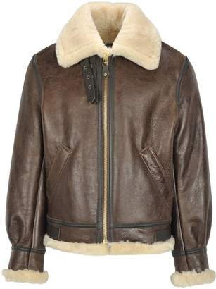Schott Nyc Classic B-3 Sheepskin Leather Bomber Jac