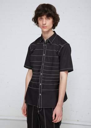 Comme des Garcons Contrast Stitch Short Sleeve Shirt
