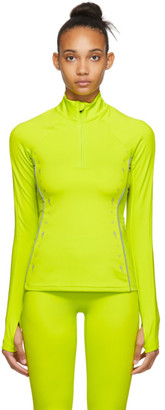Reebok x Victoria Beckham Yellow VB Half-Zip Running Top