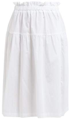 Araks Ulu Paperbag Waist Cotton Skirt - Womens - White