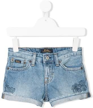 Ralph Lauren embroidered denim shorts