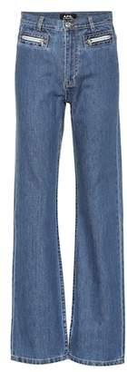A.P.C. Newport mid-rise flared jeans