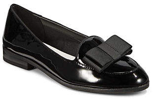 Anne Klein Tuxedo Moc Patent Leather Loafers