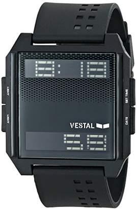 Vestal Unisex DIG008 Digichord All Black PU Digital Watch