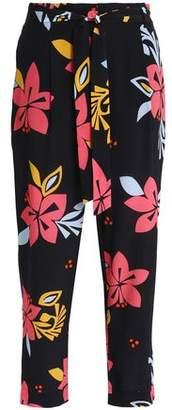 Chinti and Parker Printed Silk-Crepe Straight-Leg Pants
