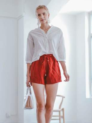Goodnight Macaroon 'Lina' Linen Tied Shorts