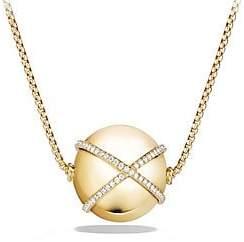 David Yurman Women's Solari Pendant Necklace with Diamonds in 18K Yellow Gold