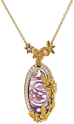 Carrera Y Hidden 18K 16.37 Ct. Tw. Diamond & Amethyst Necklace
