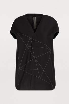 Rick Owens Embroidered linen top