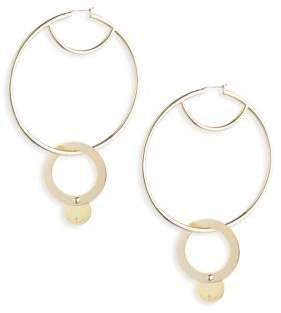 Eddie Borgo Nubia Hoop Earrings/2.75""
