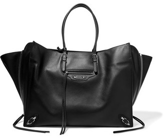 Balenciaga - Paper Za Textured-leather Tote - Black $1,995 thestylecure.com