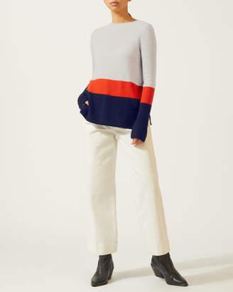 Jigsaw Colour Block Stripe Cashmere Jumper