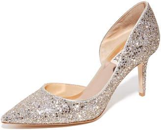 Badgley Mischka Daisy Glitter Pumps $198 thestylecure.com