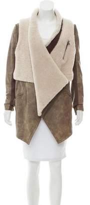 Yigal Azrouel Convertible Shearling Jacket