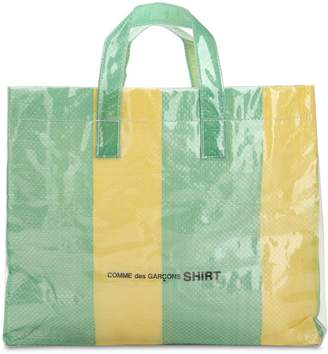 Comme des Garcons Xl Plastic Covered Woven Tote Bag