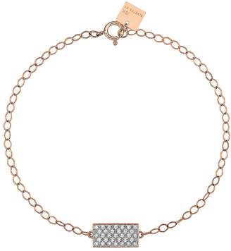 ginette_ny Mini White Diamond Ever Rectangle Bracelet
