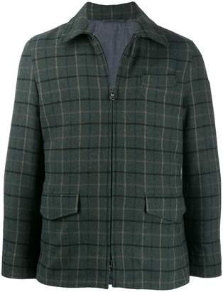 Hackett checked zip shirt jacket