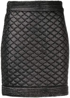 Balmain quilted mini skirt