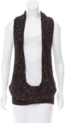 CNC Costume National Knit Sequined Top