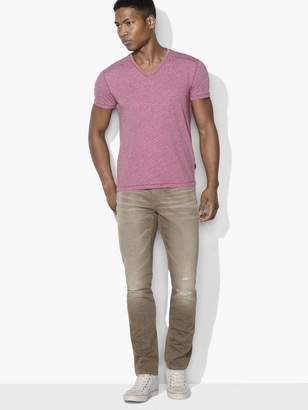 John Varvatos Heathered V-neck Tee
