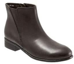 SoftWalk Urban Stacked Heel Leather Booties