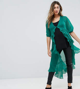 Asos Ultimate Ruffle Maxi Tea Blouse in Chiffon