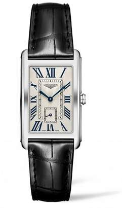 Longines DolceVita Leather Strap Watch, 25.8mm x 42mm