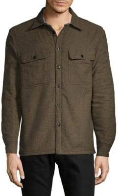 Flannel Faux Shearling-Lined Jacket
