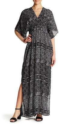 Love Stitch V-Neck Kimono Sleeve Maxi Dress