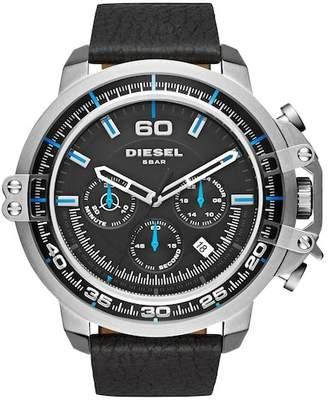 Diesel R) 'Deadeye' Chronograph Leather Strap Watch, 56mm