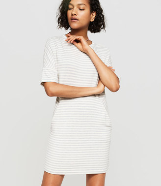Lou & Grey Striped Signaturesoft Dropshoulder Dress $69.50 thestylecure.com