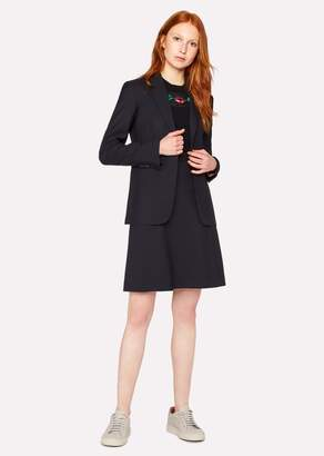 Paul Smith Women's Navy Wool-Twill 'A Skirt To Travel In'