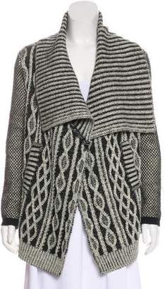 Yigal Azrouel Wool Cable Knit Cardigan