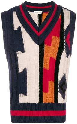 Etro tapestry sweater vest