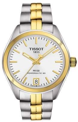 Tissot Women's PR 100 Powermatic 80 Watch, 33mm